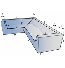 Schutzhülle auf Maß für Loungebank Typ 11