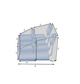 Maßgefertigte Schutzhülle für Bootssitze 4-Sitzer