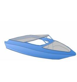 Afdekzeil speedboot open bow met drukkers