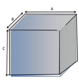 Vierkante hoes type 1 op maat