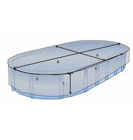 Maßgefertigte Schutzhülle Schwimmbad oval