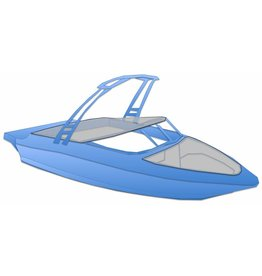 Kuipzeil speedboot open bow