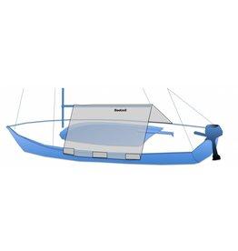 Kuipzeil open zeilboot simpel