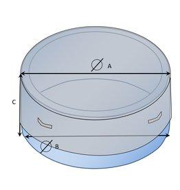 Bootzeil Maßgefertigte Whirlpool-Schutzhülle rund