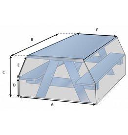 Maßgefertigte Schutzhülle für Picknicktisch
