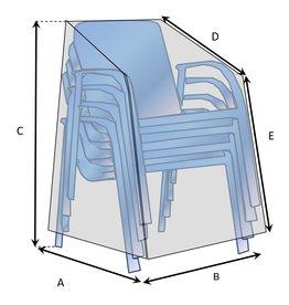 Maßgefertigte Schutzhülle für stabelbare Stühle