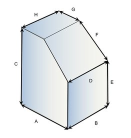 Vierkant vorm type 3 hoes op maat