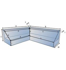 Schutzhülle auf Maß für Loungebank Typ 1