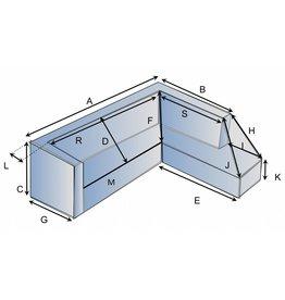 Schutzhülle auf Maß für Loungebank Typ 2