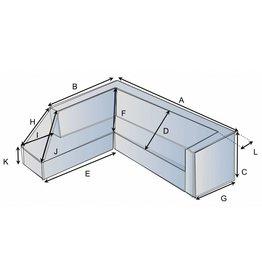 Schutzhülle auf Maß für Loungebank Typ 3