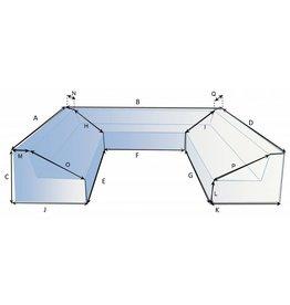 Bootzeil CustomX - Schutzhülle auf Maß für Loungebank Typ 7
