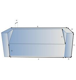 Schutzhülle auf Maß für Loungebank Typ 9