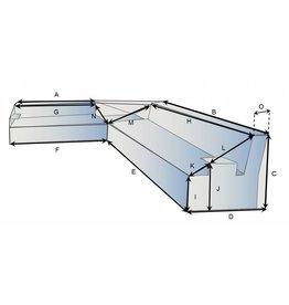 Schutzhülle auf Maß für Loungebank Typ 14