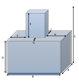 Würfelförmige Schutzhülle auf quadratischer Schutzhülle