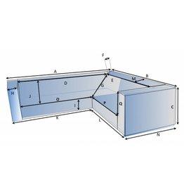 CustomX - Schutzhülle auf Maß für Loungebank Typ 6