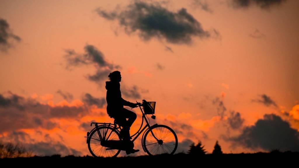 Bei Wind und Wetter auf dem Fahrrad