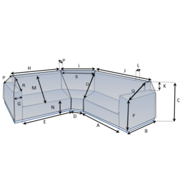 CustomX - Schutzhülle auf Maß für Loungebank Typ 13