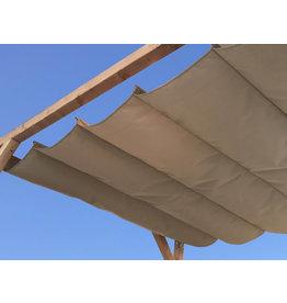 Schaduwdoek op maat Harmonica Ibiza