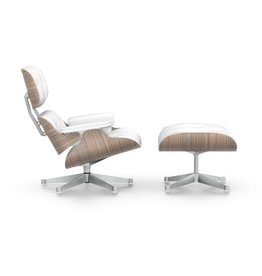 Vitra Vitra Eames Lounge Chair & Ottoman - walnoot wit gepigmenteerd