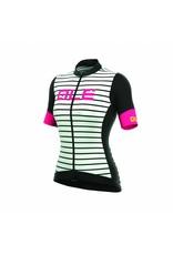 Alé Alé R-EV1 Marina Womens Jersey Zwart/Wit/Fluo Roze