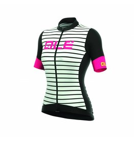 Alé R-EV1 Marina Womens  Jersey Zwart/Wit/Fluo Roze