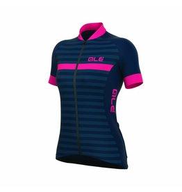 Alé Solid Riviera Womens Jersey Blauw/Fluo Roze