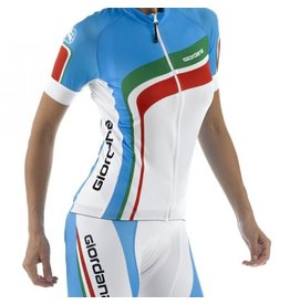 Giordana Giordana retro dames fietsshirt trade flash blauw