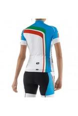 Giordana Girodana retro dames fietsshirt trade flash blauw