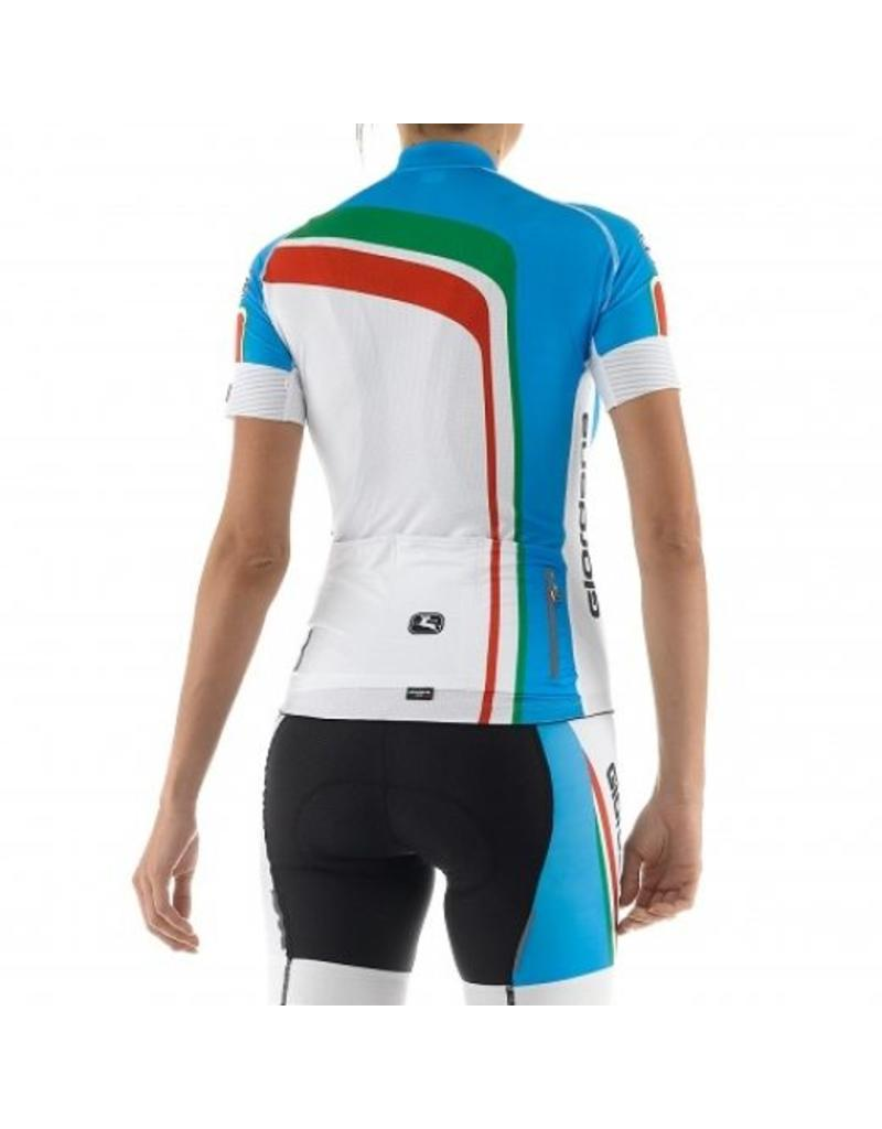 Giordana Girodana retro dames fietsshirt trade flash blauw