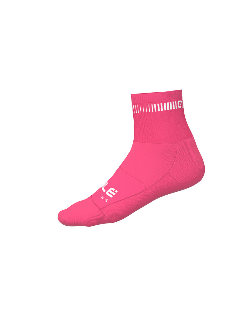 Alé Logo Q-Skin Socks Fluo Pink-White