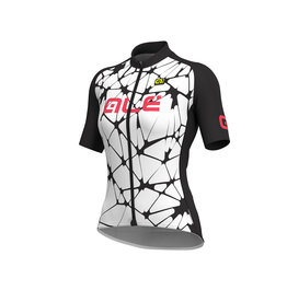 Alé Cracle Lady Jersey White-Black-Gerbera
