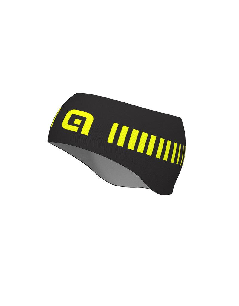 Alé Headband Strada Fascia zwart/fluo geel