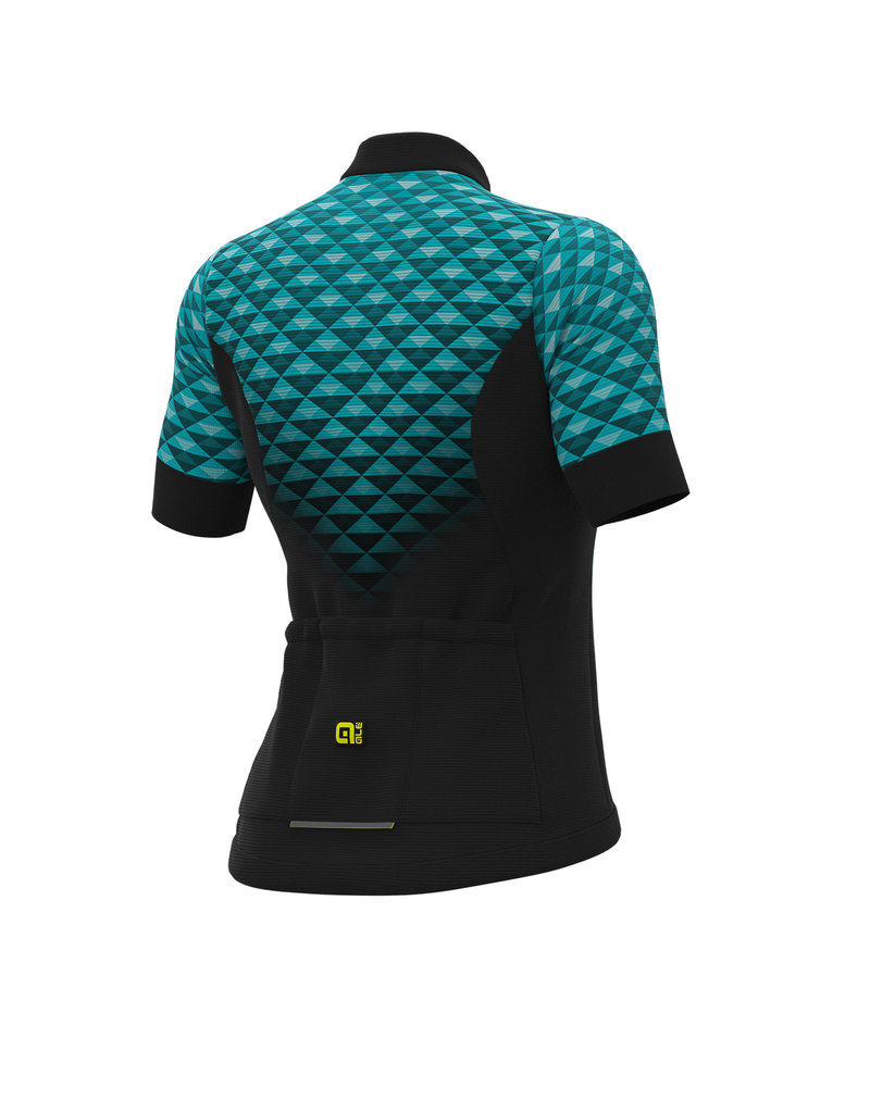 Alé SS Jersey Solid Hexa Black Turquoise