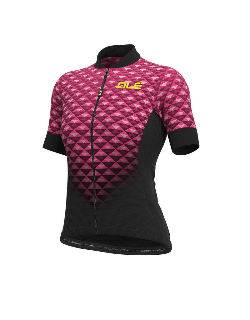 Alé SS Jersey Solid Hexa Black Fluo Pink