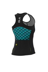 Alé Solid Hexa Top Black Black Turquoise