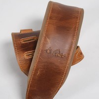 De Gier Guitars strap deluxe beige/brown, extra padded