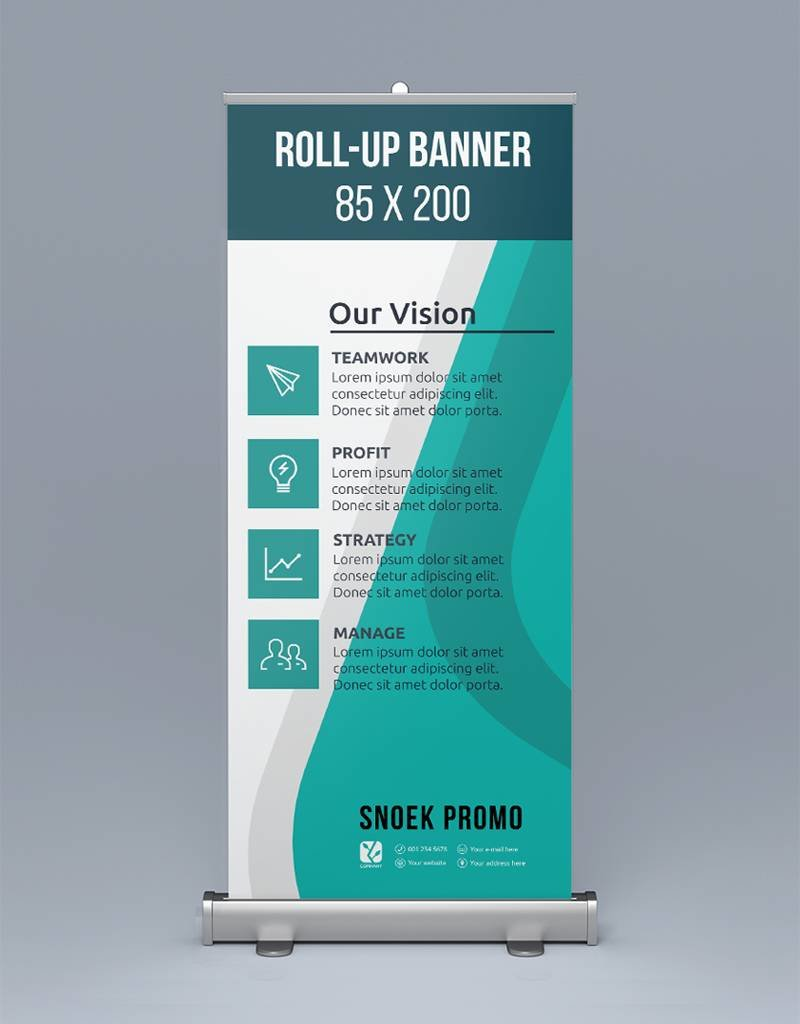 Roll-up banner (85x200cm)