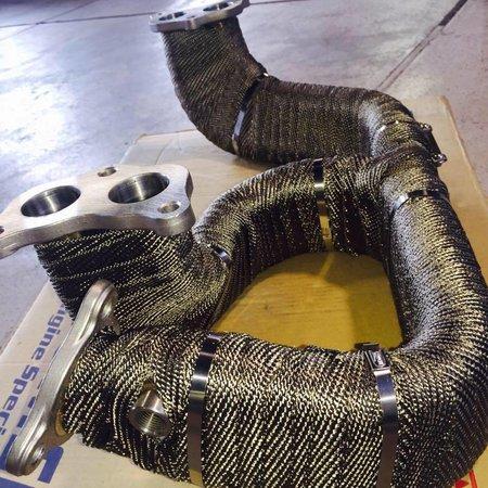 Heat Shieldings Titanium basaltvezel Uitlaatband 3cm x 5m tot 800 °C