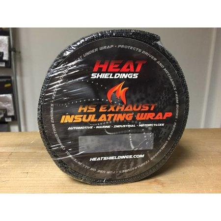 Heat Shieldings Graphite Black  Exhaust Wrap 5cm x 30m max 600 °C