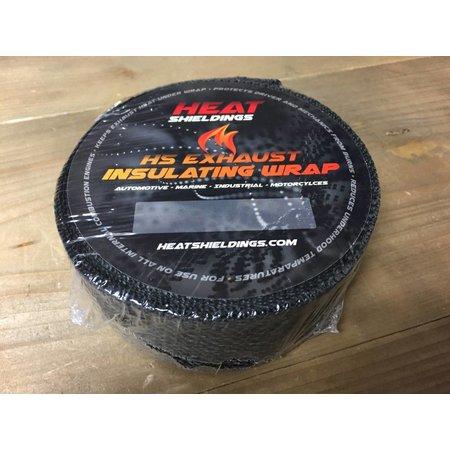 Heat Shieldings Zwart 5cm x 15m Uitlaatband tot 600 °C