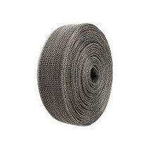 Black 3.8cm x 3m Exhaust wrap - Heat wrap - Stainless steel casing