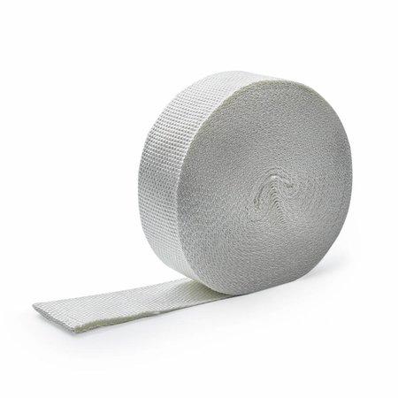 Heat Shieldings Wit 5cm x 10m glasvezel uitlaatband MED gekeurd