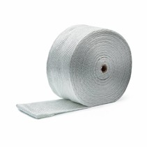 White 10cm x 50m Exhaust Wrap  MED approved