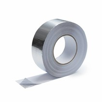 Heat-reflective aluminum tape with glass-fiber reinforced