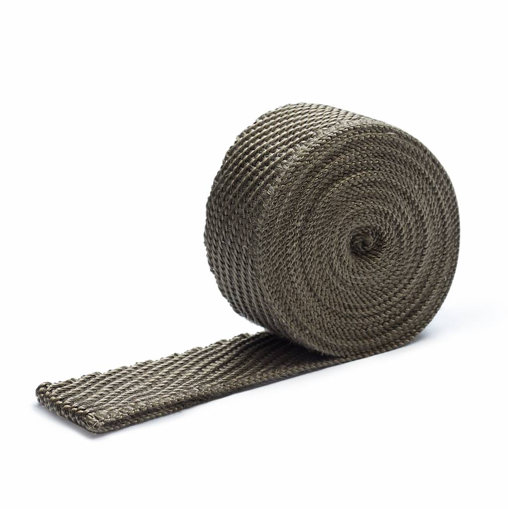 Heat Shieldings Titanium basaltvezel Uitlaatband 3cm x 10m tot 800 °C