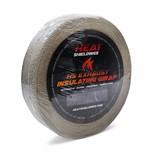 Heat Shieldings Tan Fibreglass Exhaust Wrap 5cm x 20m max 550 °C