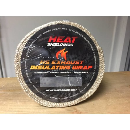 Heat Shieldings Tan Fibreglass Exhaust Wrap 5cm x 10m max 550 °C