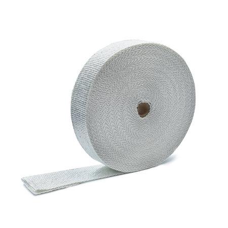 Heat Shieldings Wit 5cm x 50m x 3mm glasvezel uitlaatband MED gekeurd