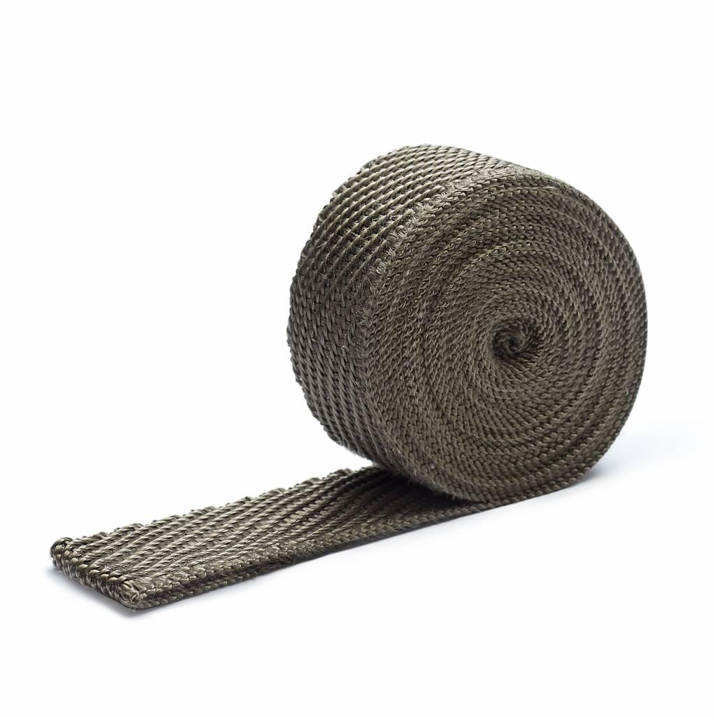 Heat Shieldings Titanium basaltvezel Uitlaatband 3cm x 15m tot 800 °C