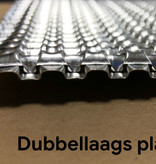 Heat Shieldings Hittewerende en geluiddempende aluminium plaat met dubbele reliëf